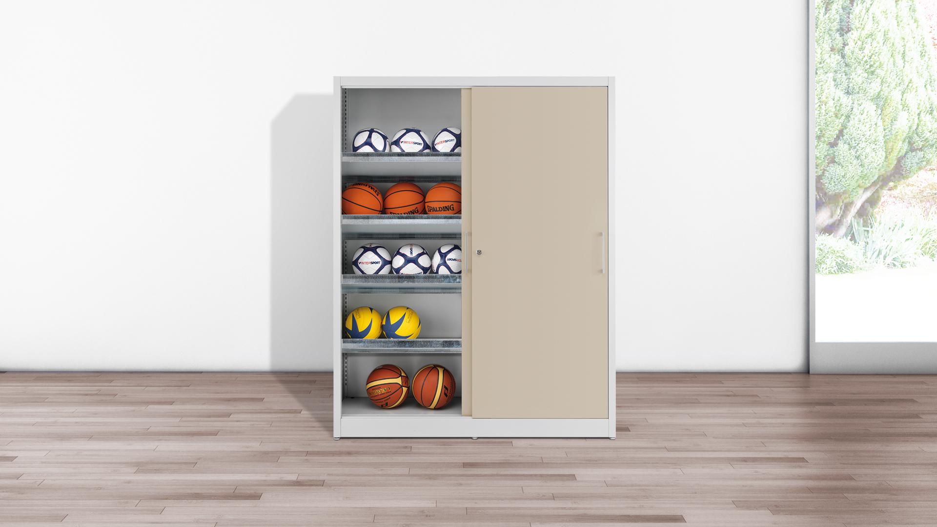 Schranksysteme-Spezialschrank-Sportgeraeteschrank-Ballsport-joe-fit-SSG-mauser-slider