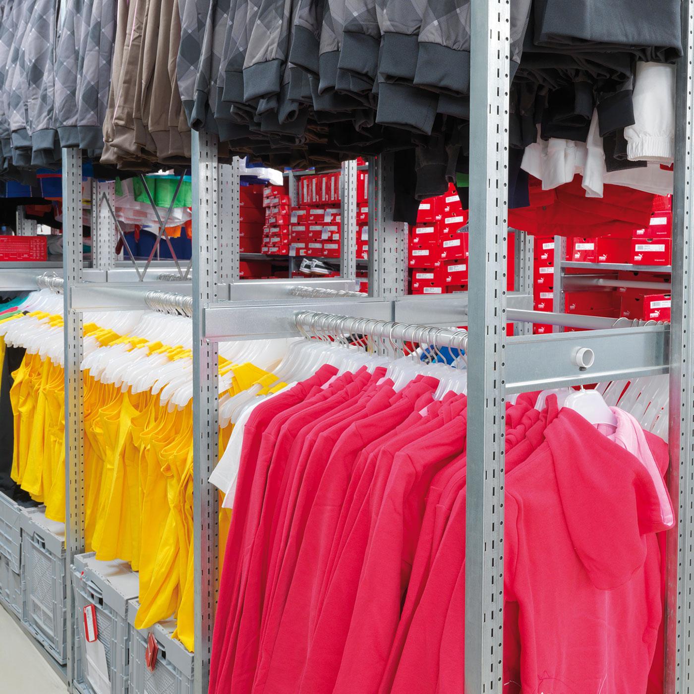 Kleiderstange für Hängeware