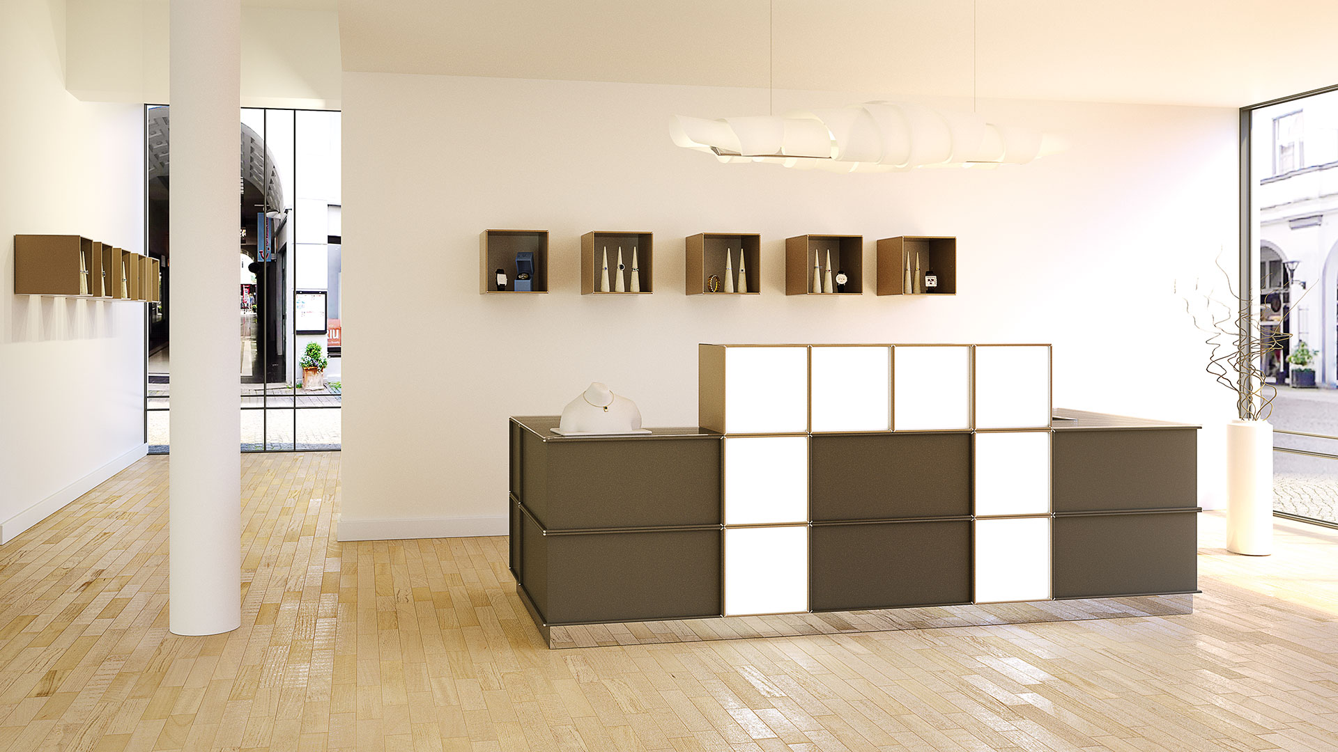 Design-Moebel-Stauraum-Thekenelement-Verkaufstresen-element-x-16-9CGRP91dshvHQT