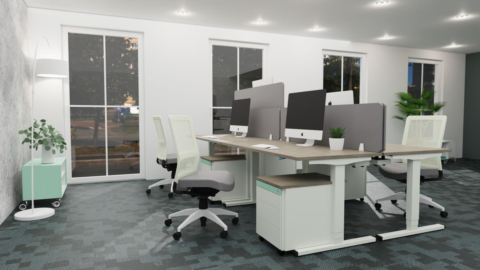 Softboard-Akustik-Aufsatzelement-grau-Gruppenarbeitsplatz-mauser