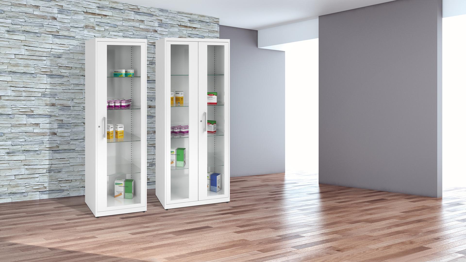Schranksysteme-Spezialschrank-Medikamentenschrank-Fluegeltuer-client-kontoro-KFGM-mauser-slider